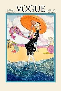 1919 Vogue Fashion Lady Beach Ocean Umbrella Cover Poster Magazine 12