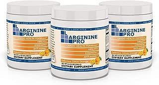 L-arginine Pro, 1 Now L-arginine Supplement - 5,500mg of L-arginine Plus 1,100mg L-Citrulline (Citrus Orange, 3 Jars)
