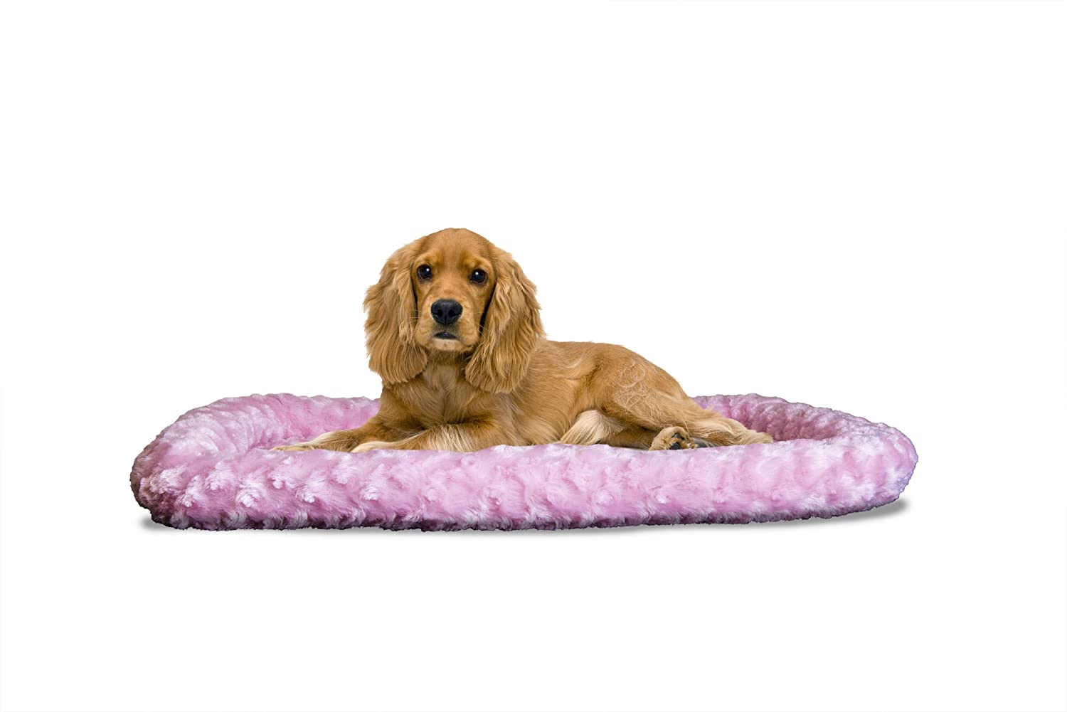 Fur Haven Nap Ultra Plush Bolster for Kennels and Crates, Medium Strawberry, Fits  21  X 30