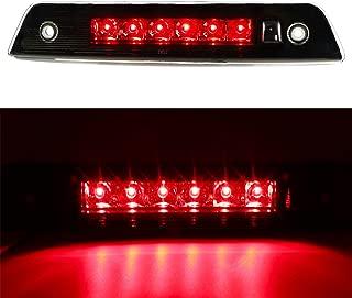 For 2005-2010 Jeep Grand Cherokee Wk Rear High Mount LED 3rd Brake Light,HM015 Transparent Housing + Smoke Lens (Transparent Housing + Smoke Lens)