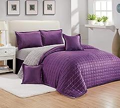 Moon Winter fur Comforter Set 4 Pcs, Single Size,Purple,SCYM-001