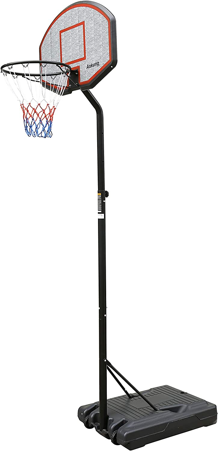 aokung Teenager Now free shipping Youth Height Adjustable gift Basketbal 8.5ft 6.2ft to