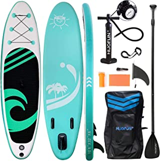 """HIJOFUN Premium Inflatable Stand Up Paddle Board 10'6""""×32""""×6"""" Ultra-Light Standing Boat for Youth & Adult with Non-Slip De..."""