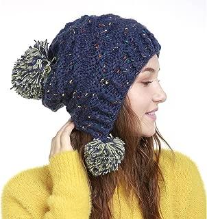Crochet Hat Knit Ear Flap Hat Tassel Hat Women Accessories Winter Hat Slouchy Beanie Hat