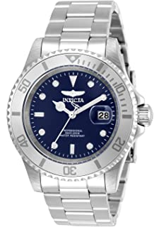 Invicta Men's Pro Diver Quartz Watch with Stainless Steel Strap, Silver, 20 (Model: 34023)