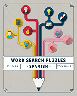 Word Search Puzzles to Learn Spanish Vocabulary: Learning Spanish Games for Adults Easy