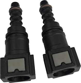 Female Bundy to Hose Barb Fuel Line Connector Quick Release for 3/8 Steel to 5/16 ID 3/8 OD Nylon Hose