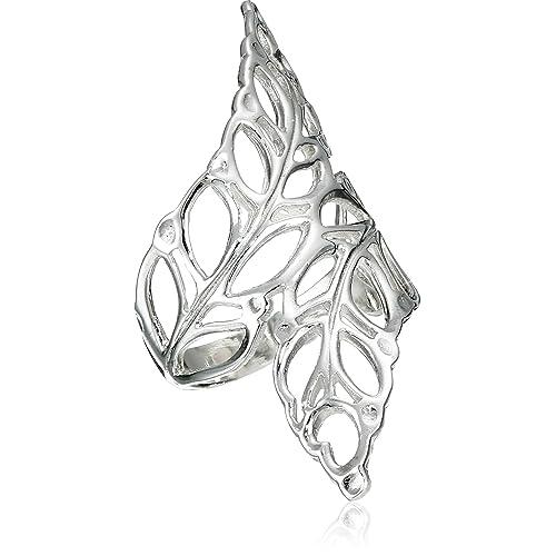 Helen de Lete Simple Style Leaf Vine Olive Branch Fashion Sterling Silver Bangle Bracelet