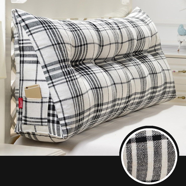 FEIFEI Le matelas de coton de matelas doux et confortable a soulevé et lavable le dossier de sofa de coussin (Couleur   Noir, taille   90cm)