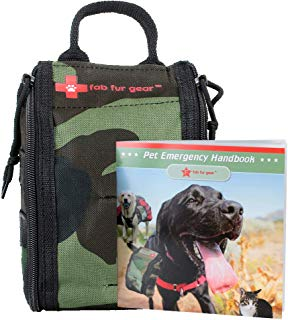 FabFur Gear Pet First Aid Kit- Certified Cat & Dog First Aid Kit - Home Travel Hiking Camping Emergencies, Vet Approved Dog Emergency Kit-Perfect Kit for Dogs, Pets, Animals-Bonus Collar, Guidebook