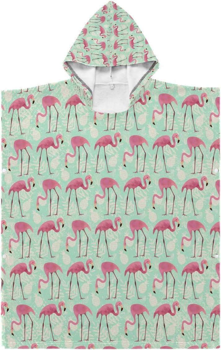 N A Kids Hooded Beach Bath Flamingo sold out Sacramento Mall - Towel Watercolor B