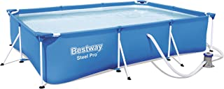 Bestway 56411 - Piscina Desmontable Tubular Infantil Deluxe Splash Frame Pool 300x201x66 cm Depuradora de cartucho de 1.249 litros/hora