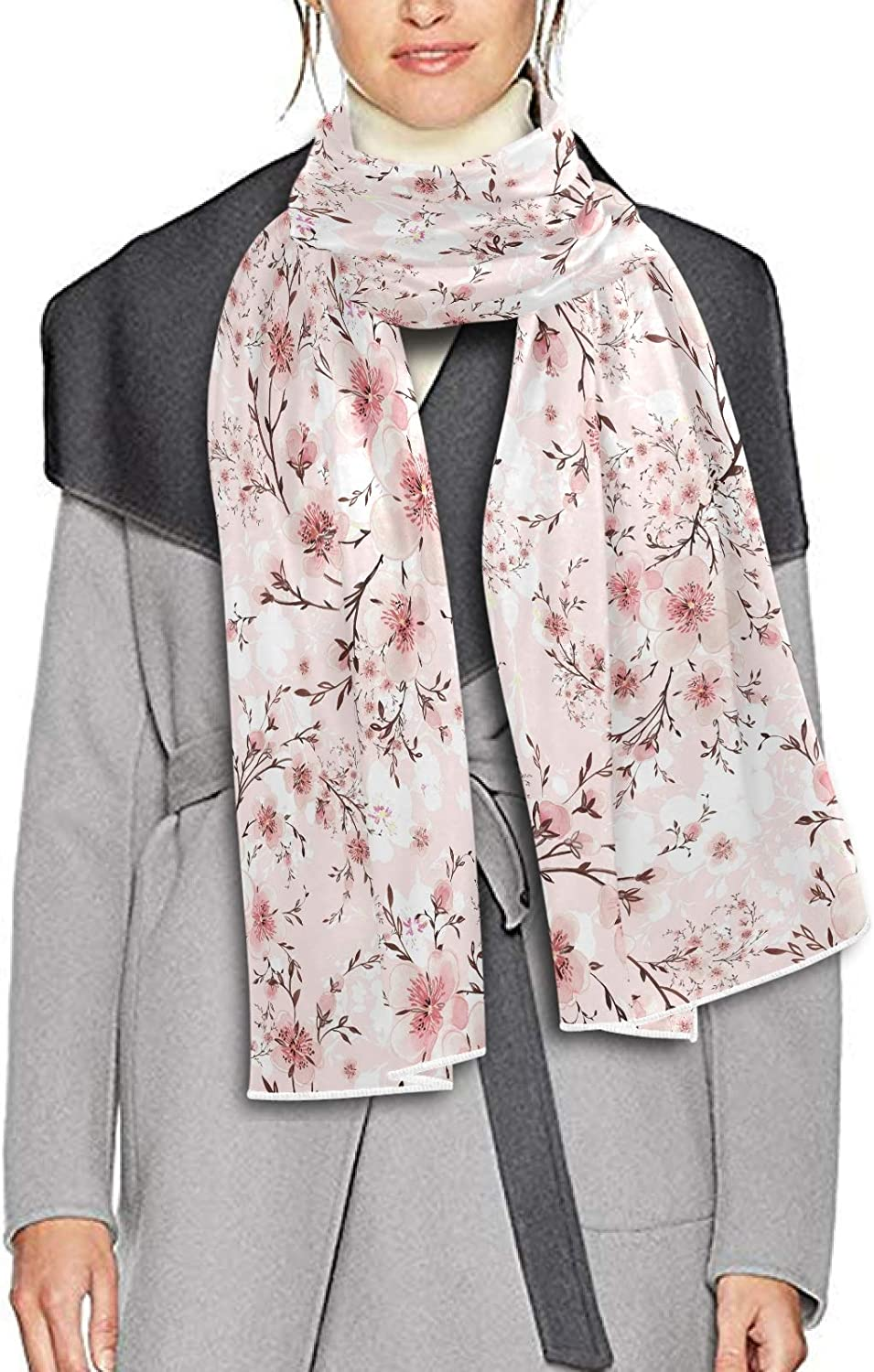 Scarf for Women and Men Blooming Branches Shawls Blanket Scarf wraps Thick Soft Winter Oversized Scarf Lightweight