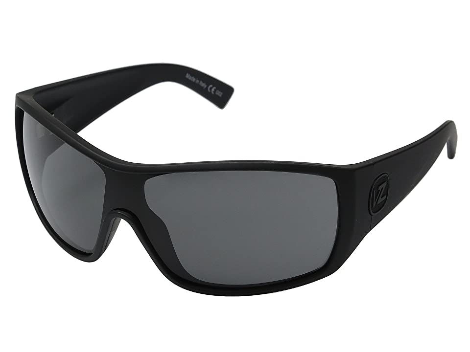 VonZipper Berserker (Black Satin/Grey) Sport Sunglasses