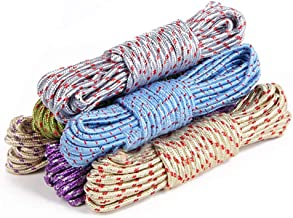 Aloud Creations 20-Meter Nylon Braided Twisted Rope for Drying Clothes, Hangers, Multi-Function, Windproof, Anti Slip, Colorful Rope, Dry Hanging Outdoor Indoor Travel – Pack of 2 Piece