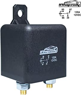 12 V DC 120 Amp 4 Pin Heavy Duty Relay/Split Charge Relay - 4 Terminal Relay - Coil Power 1.8 W
