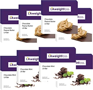 LA Weight Loss Bars - Chocolate Peanut Butter & Chocolate Mint - 8 Boxes