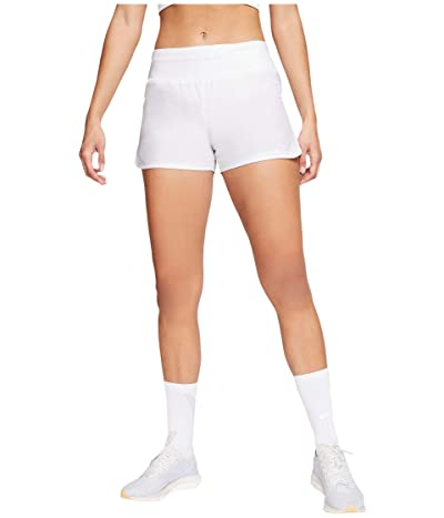 Nike Crew Shorts (White/Reflective Silver) Women