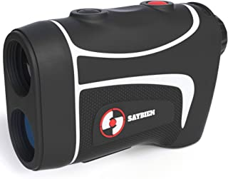 Saybien Golf Rangefinder - Options with and Without Slope, Rechargeable - 500m to1200m - Laser Range Finder - Tournament Legal - Scan Mode - Flag Lock