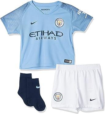 Nike 2018-2019 Man City Home Little Boys Mini Kit