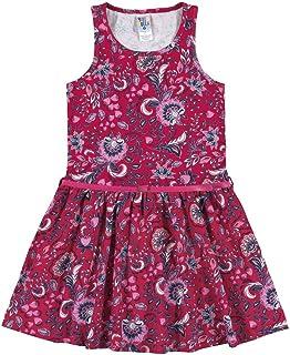 Vestidos Rotativo Framboesa Infantil Menina Meia Malha Ref:37538-571