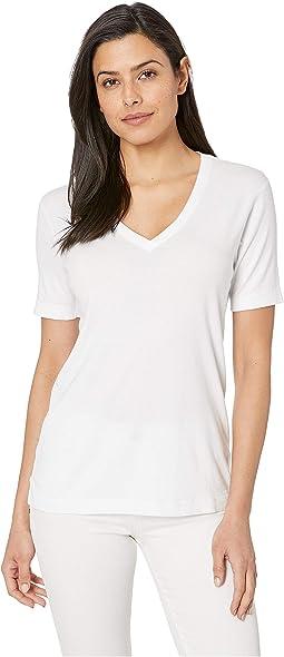 EZ Fit Short Sleeve Cotton Modal V-Neck Tee