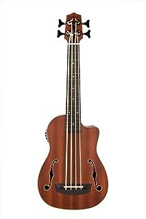 Kala UBASS-JYMN-FS Journeyman Acoustic-Electric U-Bass With F-Holes Ukelele Bass Guitar