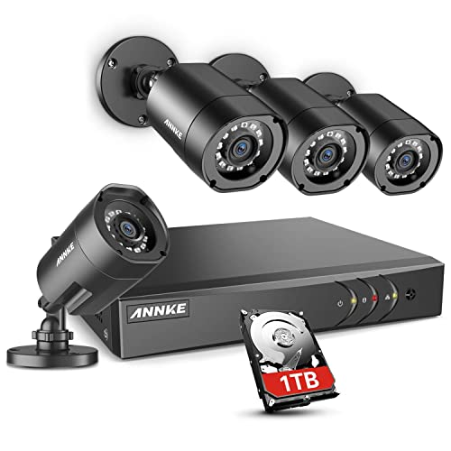 ANNKE 8CH Security Camera System HD-TVI H.264+ Surveillance DVR Recorder with