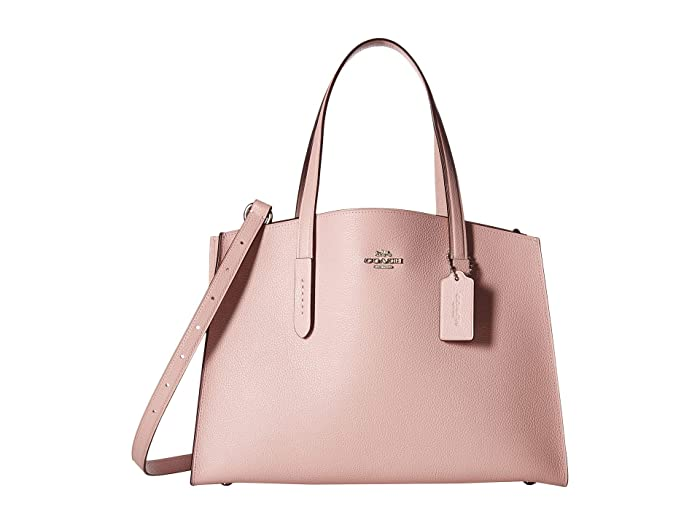 f6a59b5245 COACH Polished Pebble Leather Charlie Carryall at Zappos.com