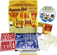 Glass Etching Kit with Cream, Reusable Stencils, Brush, Applicator, Cutter, Gloves + Free How to Etch CD
