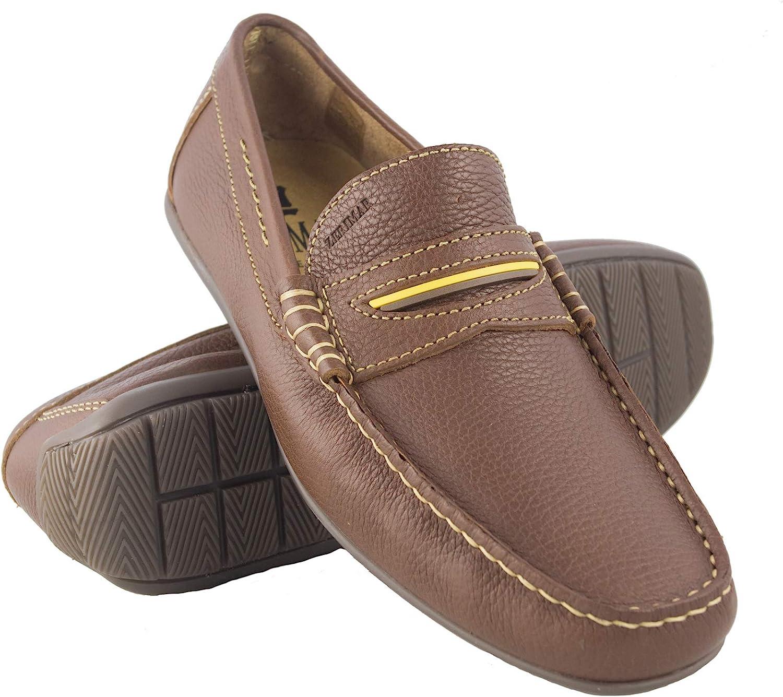 Zerimar Boat shoes   Boat shoes for Men   Boat shoes Laces   Boat shoes Leather   Colour  Leather   Size 7.5 UK - 41 EU