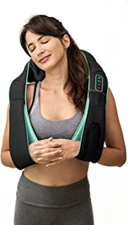 Miuvo PowerRest Cordless Rechargeable Neck & Shoulder Massager   Adjustable Intensity with Heat   3D Shiatsu Kneading for Home, Office and Car Use