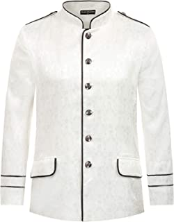 Men's Steampunk Jacket Gothic Military Suit Blazer Victorian Coat