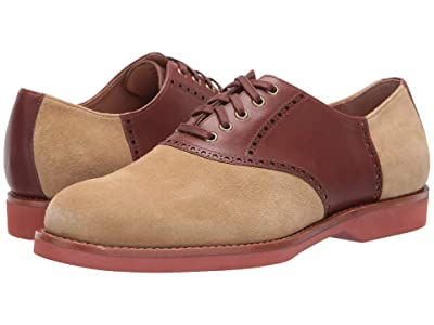 Polo Ralph Lauren Rhett Saddle (Bone/New Tan Suede/Heavyweight SM Leather) Men