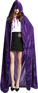 SATINIOR Unisex Full Length Hooded Cloak Adult Velvet Cape Halloween Party Cosplay Costume Cloak