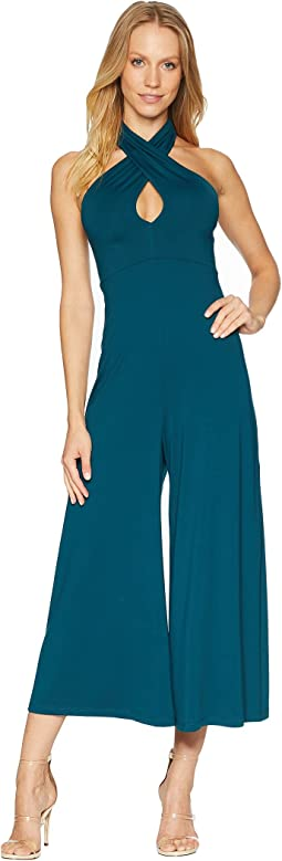 Cross Front Halter Jumpsuit