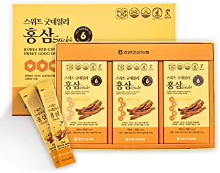 [Gangwoninsam] Korean Red Ginseng Extract Sweet Good Daily Stick 30 Count – 6 Year Old Red Ginseng Extract, Korean Health Food, Individually Packaged, 0.35 fl. oz (10ml), 3 X 10-Count Box