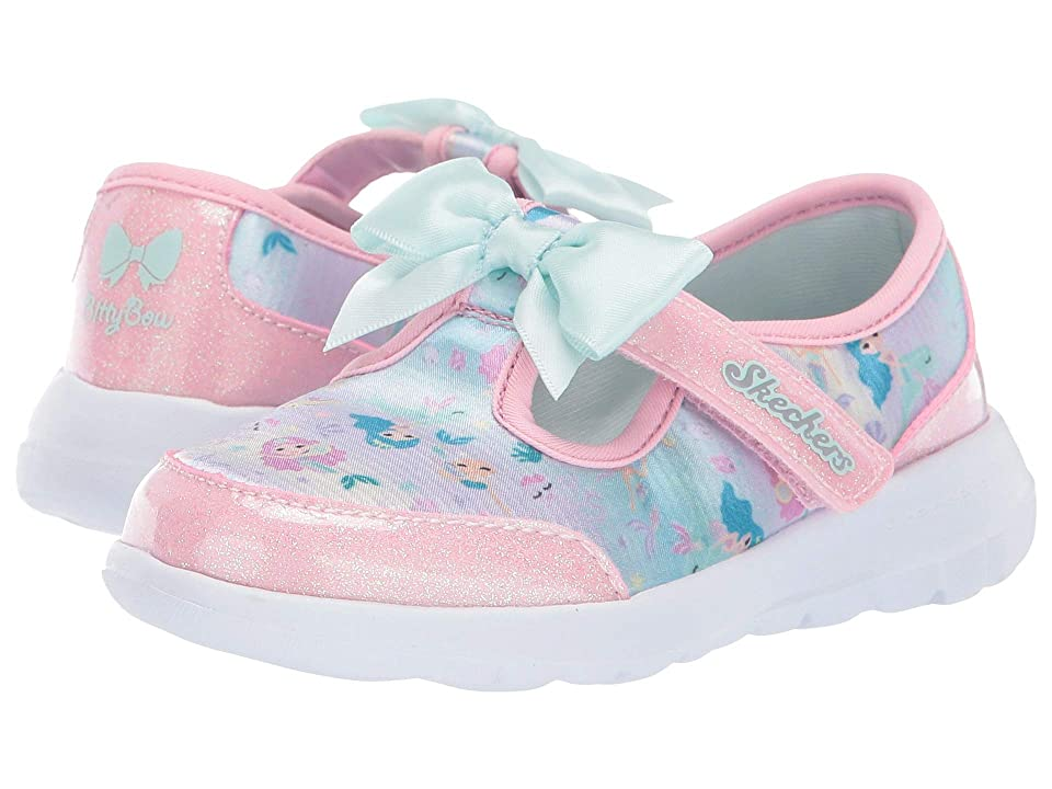 SKECHERS KIDS Go Walk Joy Sparkle Squad 81181N (Infant/Toddler/Little Kid) (Pink/Multi) Girl