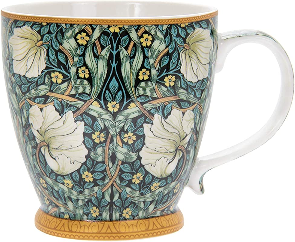 China Breakfast Mug Cup Large 380ml 13floz Capacity Individually Boxed William Morris Pimpernel