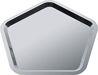 "Alessi""Territoire intime"" Pentagonal Tray in 18/10 Stainless Steel Mirror Polished, Silver"