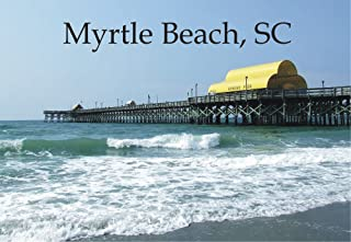 South Carolina, Myrtle Beach Pier, SC, Beach, Souvenir Magnet 2 x 3 Photo Fridge Magnet