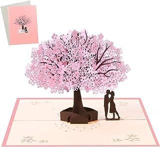 Vicloon Biglietto d'Auguri, Matrimonio Anniversario Pop Up 3D Carta, Romantico Biglietti Natale con Busta, Amanti Sotto il...