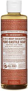 Dr. Bronner's Magic Soaps Fair Trade and Organic Castile Liquid Soap, Eucalyptus, 8 Ounce