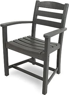 POLYWOOD TD200GY La Casa Café Dining Arm Chair, Slate Grey