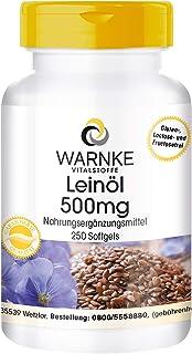 comprar comparacion Aceite de Linaza 500mg – Prensado en frío – 58% de Ácido Alfa – Linoleico – Ácidos grasos Omega 3 – 250 cápsulas