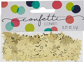 Amscan 369146.19 Gold Mini Stars Confetti   .25 oz   1 pack   Party Decor