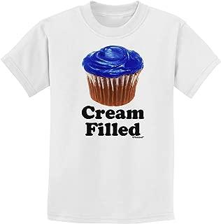 Cream Filled Blue Cupcake Design Childrens T-Shirt