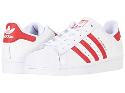 adidas Originals Kids Superstar (Big Kid) (Footwear White/Scarlet/Footwear White) Kids Shoes