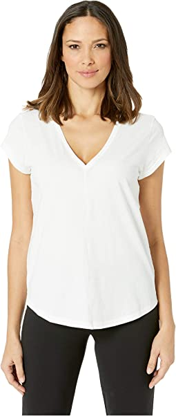 Short Sleeve V-Neck Pima Jersey T-Shirt