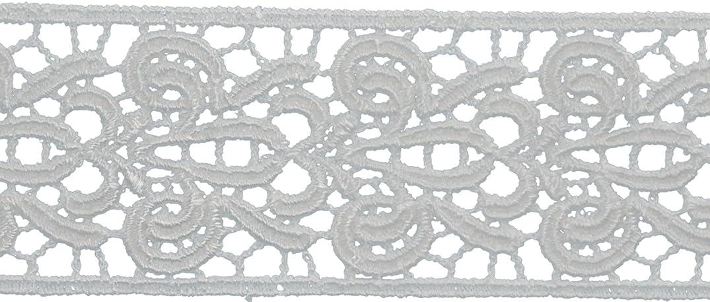 Decorative Trimmings Oyster Fleur-De-Lis Venice Lace Trim 1-1/2